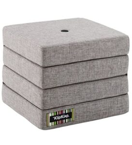 by KlipKlap Foldemadras - 4 Fold - Multi Grey/Grey