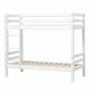 Hoppekids BASIC etageseng/køjeseng ikke delbar - Hvid - Flere størrelser Juniorseng
